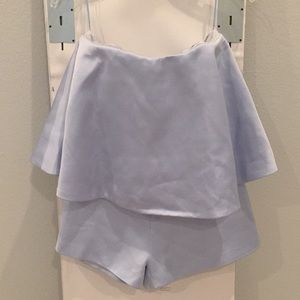 Keepsake Powder Blue Satin Romper